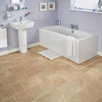 Karndean Knight Tile - Vinyl Flooring - Stone Bath Stone - Bath Stone